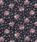 Vintage Cotton Fabric 43\u0027\u0027-Mini Bouquet on Navy