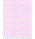 Snuggle Flannel Fabric -Geometric Print on Pink
