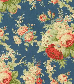 """Waverly Upholstery Fabric 54""""-Sanctuary Rose/Heritage"""