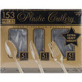 Extra Heavy Weight Plastic Cutlery 153/Pkg-Clear