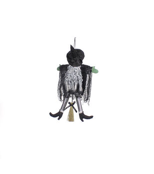 Maker's Halloween Witch Body Door Hanger-Black