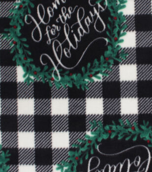 Christmas Anti-Pill Plush Fleece Fabric-Home for the Holidays
