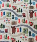 Anti-Pill Plush Fleece Fabric-Don\u0027t Feed the Bear