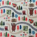 Anti-Pill Plush Fleece Fabric-Do Not Feed the Bear