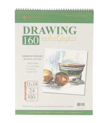 "Drawing Pad 100# 24 Sheets/Pkg-11""X14"""