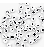 Alphabet Beads 7mm 150/Pkg-White Round, , hi-res