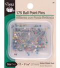 Dritz 175 Count Color Ball Point Pins-Size 17
