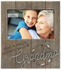 Photo Frame 4\u0027\u0027x6\u0027\u0027 with Grandma Sentiment-Rustic Woodgrain