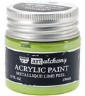 Prima Marketing Art Alchemy Acrylic Paint-Metallique Lime Peel