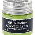 Prima Marketing Art Alchemy Acrylic Paint-Metallique Lime Peel
