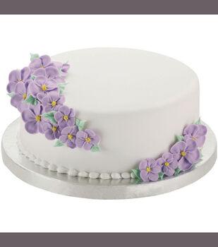 """Wilton Cake Base 12"""" 2/Pkg-Round Silver"""