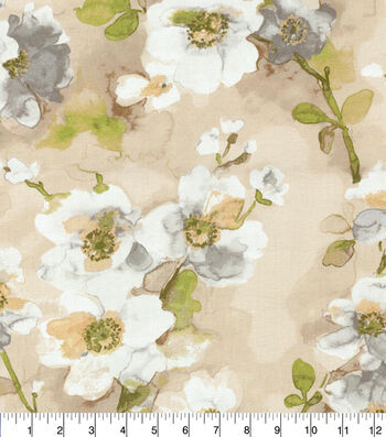Waverly Upholstery Fabric 54''-Natural Tree Blossom