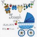 RIOLIS 7.75\u0027\u0027x7.75\u0027\u0027 Counted Cross Stitch Kit-It\u0027s a Boy! Birth Record