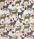 No-Sew Throw Fleece Fabric 72\u0022-Fall Deer