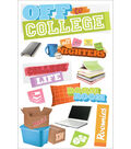 Paper House 12 pk 3D Stickers-Off to College
