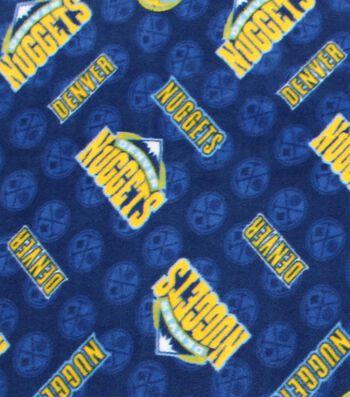 Denver Nuggets Fleece Fabric -Logo Toss