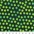 St. Patrick\u0027s Day Fabric -Watercolor Shamrocks