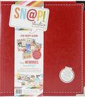 Sn@p! Leather Binder 6\u0022X8\u0022-Red