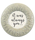 Save The Date Round Resin Frame-Silver It Was Always You