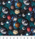Premium Prints Cotton Fabric 43\u0022-Tossed Planets in Space