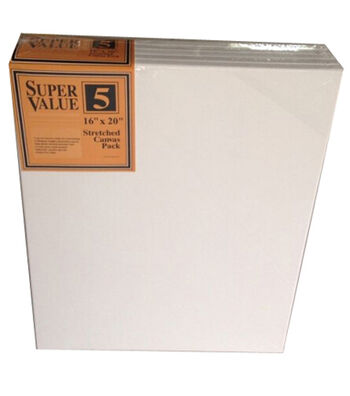 "Stretched Canvas Super Value Pack 16""x20"""