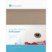 "Silhouette Printable Sticker Paper 8.5""X11"" 8/Pkg-Kraft, , hi-res"