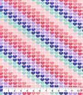 Snuggle Flannel Fabric-Hearts In Line