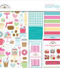 Doodlebug Essentials Page Kit 12\u0022X12\u0022-Cream & Sugar