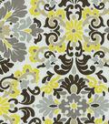 P/K Lifestyles Lightweight Decor Fabric 54\u0022-Folk Damask/Lemondrop