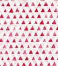 Keepsake Calico Cotton Fabric -Red Shaded Triangle