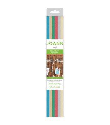 """Joann Vinyl 12""""x12"""" Roll-Glitter Christmas"""