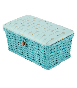 Extra Small Rectangle Sewing Basket-Arrows