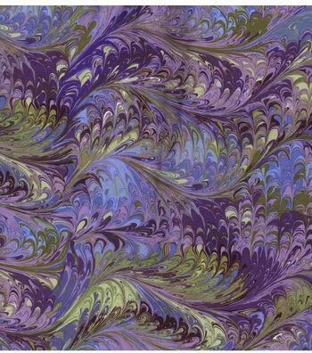 Keepsake Calico Cotton Fabric 44''-Purple Oil Slick