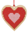 Simply Spring Craft Wood Stitch Kit-Spring Heart