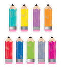 Pencils  6in Cut Outs Upcycle Style 108/pc, Set Of 3 Packs