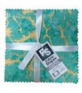 Charm Cotton Fabric Pack 5\u0027\u0027x5\u0027\u0027-Bright Metallic Batik