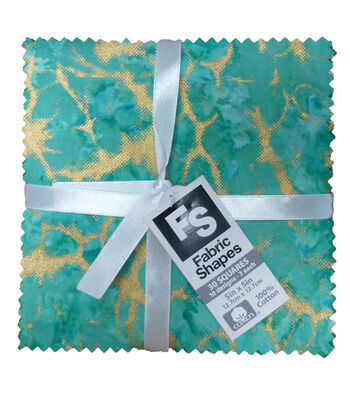 Charm Cotton Fabric Pack 5''x5''-Bright Metallic Batik