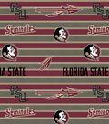 Florida State University Seminoles Fleece Fabric -Polo Stripe