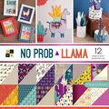 Park Lane 36 Pack 12\u0027\u0027x12\u0027\u0027 Premium Stack Printed Cardstock-No Prob Llama