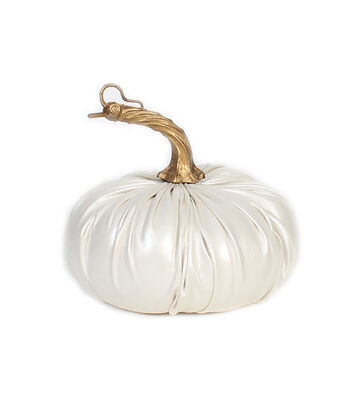 Simply Autumn Small Leather Pumpkin-White