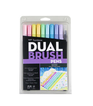 Tombow Dual Brush Markers 10/Pkg-Pastel