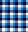 Snuggle Flannel Fabric-Blue & Navy Tri Buffalo Checks