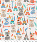 Snuggle Flannel Fabric-Tribal Foxes