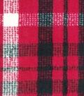 Anti-Pill Plush Fabric 58\u0022-Lauren Red, Black & Cream Plaid