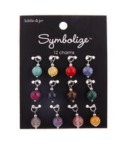 hildie & jo Symbolize 12 pk Round Stone Charms, , hi-res