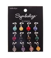 hildie & jo Symbolize 12 pk Round Stone Charms, , hi-res