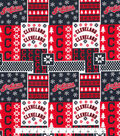 Cleveland Indians Cotton Fabric -Winter