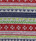 Sweater Fleece Fabric 59\u0022-Winter Multi Stripe