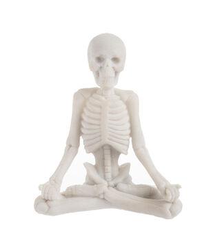 Maker's Halloween Craft Resin Yoga Skeleton in Meditation Pose