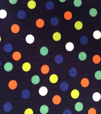 Doodles Juvenile Apparel Fabric 57''-Dots on Navy